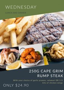 250g Cape Grim Rump Steak & Chips
