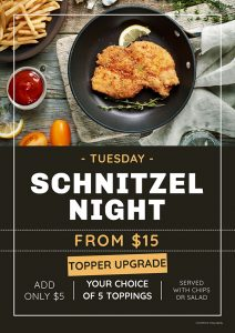 Tuesday Schnitzel Night